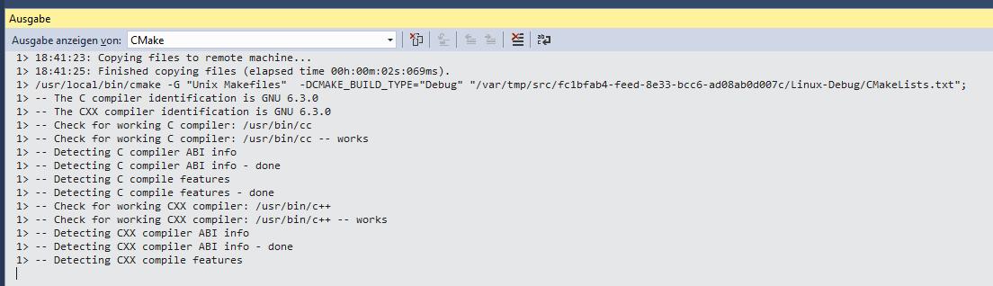 CMake Remote Initialisierung