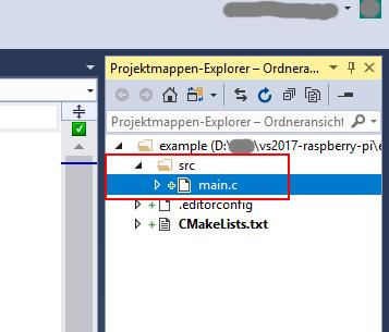 Projektmappen-Explorer